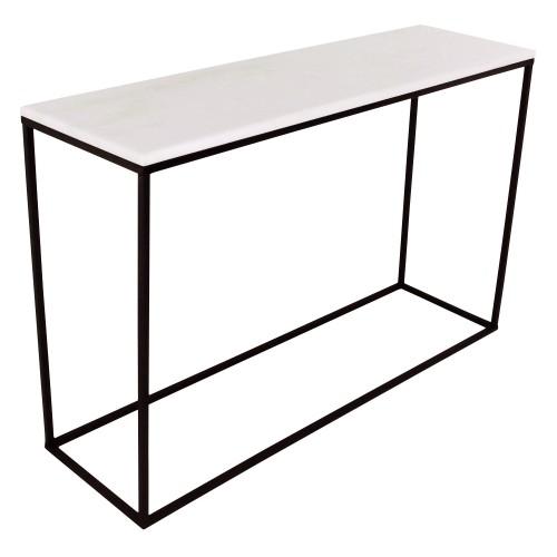 acheter console marbre blanc