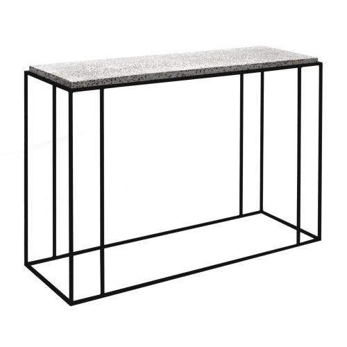 acheter console terrazzo pieds metal