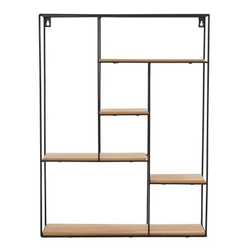 acheter etagere murale en bois et metal