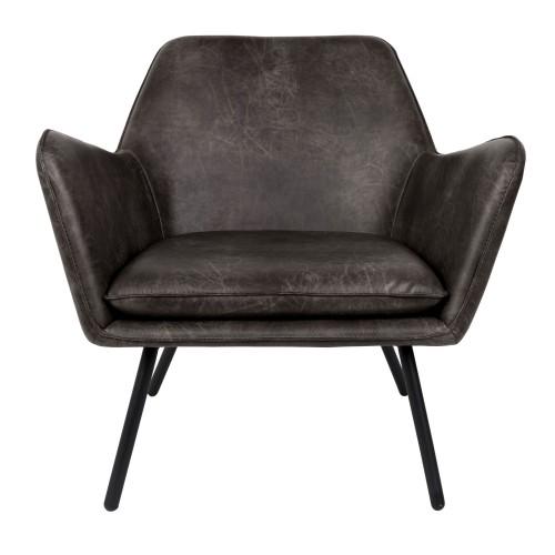 acheter fauteuil accoudoir cuir noir