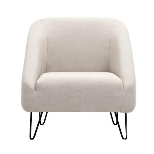 acheter fauteuil beige tissu