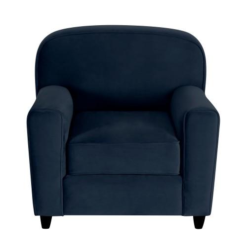 acheter fauteuil bleu velours club