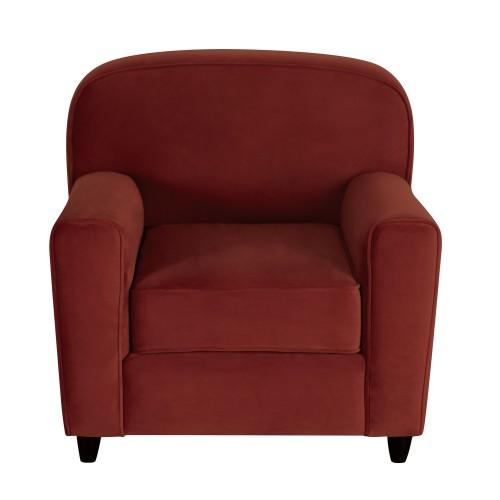 acheter fauteuil bordeaux en velours club