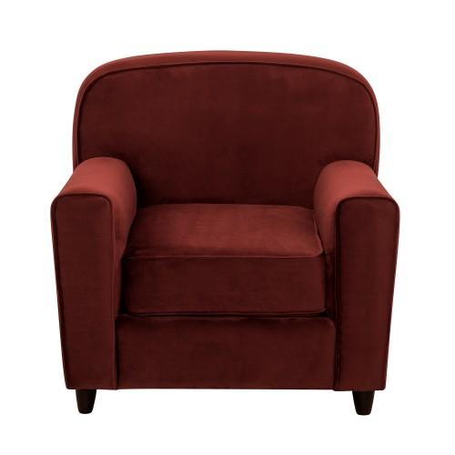 acheter fauteuil bordeaux en velours