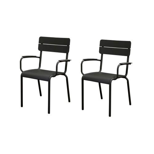 acheter fauteuil de jardin noir lot de 2