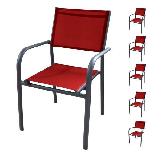 acheter fauteuil de jardin rouge