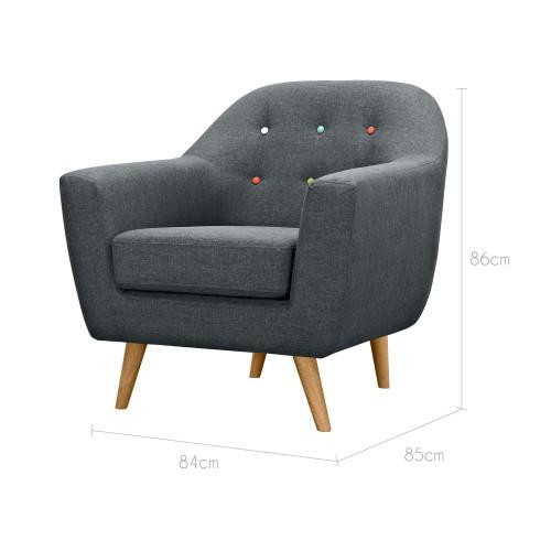 fauteuil rio gris fonc achetez nos fauteuils rio gris fonc rdv d co. Black Bedroom Furniture Sets. Home Design Ideas