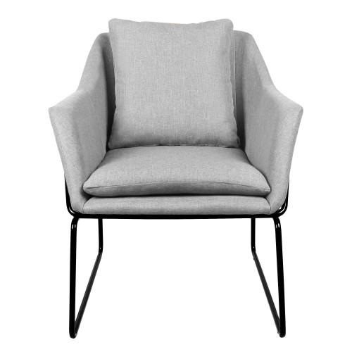 acheter fauteuil design gris tissu