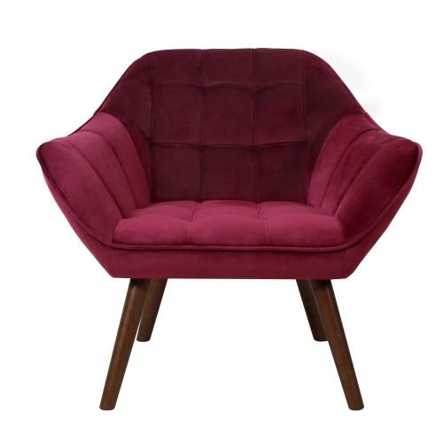 acheter fauteuil en velours bordeaux
