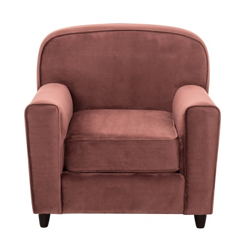 acheter fauteuil en velours rose