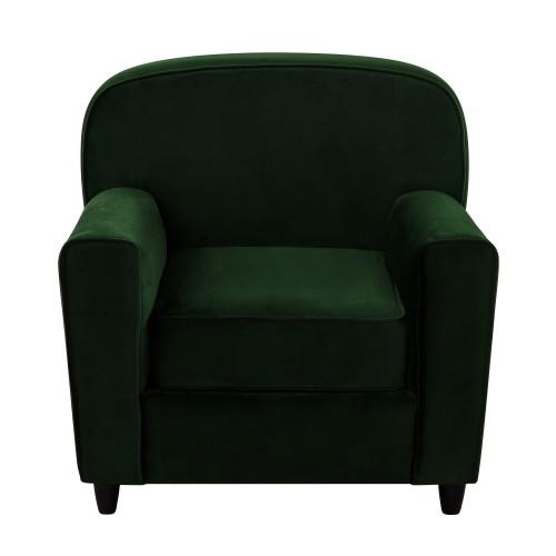 acheter fauteuil en velours vert fonce