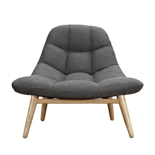 Fauteuil Melby gris anthracite