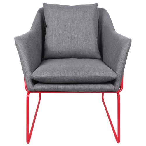 acheter fauteuil gris fonce tissu