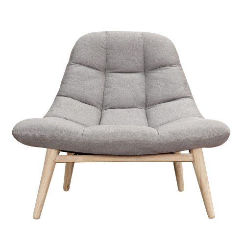 acheter fauteuil gris perle tissu