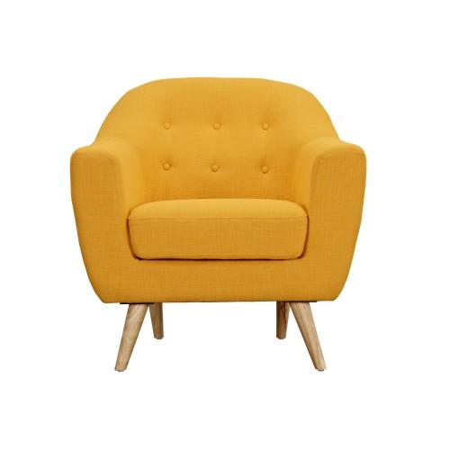 acheter fauteuil jaune confort tissu