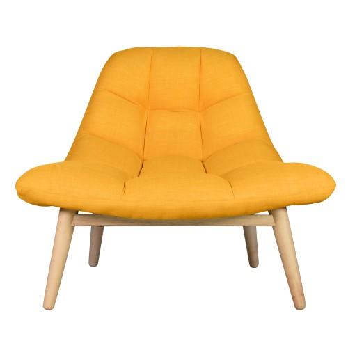 acheter fauteuil jaune confortable