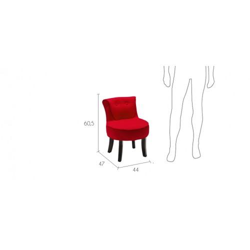 petit fauteuil crapaud rouge choisissez nos petits. Black Bedroom Furniture Sets. Home Design Ideas