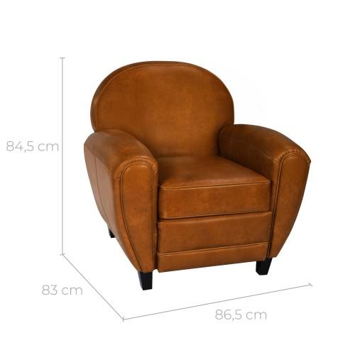 acheter fauteuil style vintage camel
