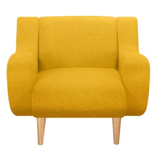 acheter fauteuil tissu jaune