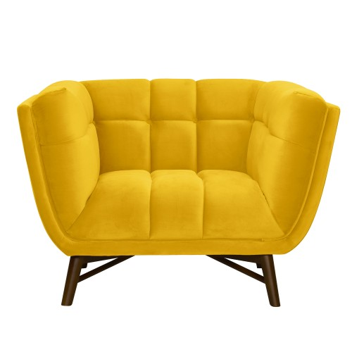 acheter fauteuil velours jaune