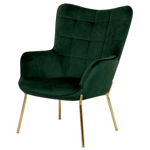 acheter fauteuil vert en velours