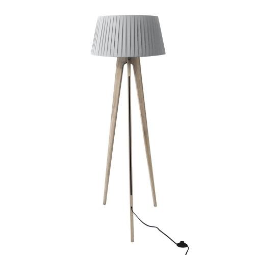 acheter lampadaire blanc pied bois