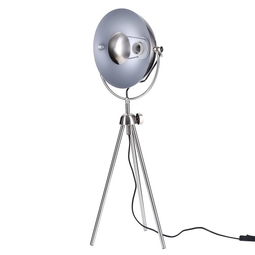 Lampe à poser Emerra acier brossé H.80 cm