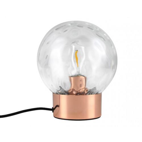 Lampe à poser Sibylle cuivre (ampoule incluse)