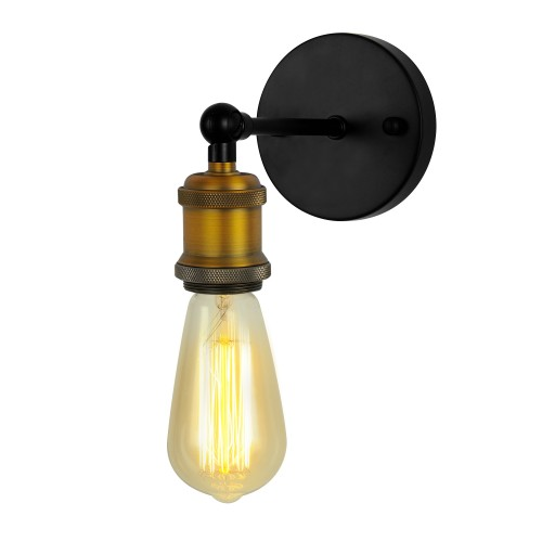 Applique Ezys noire et dorée (ampoule incluse)