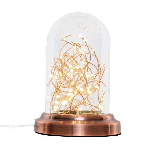 Lampe à poser Lucios cuivre H25 cm
