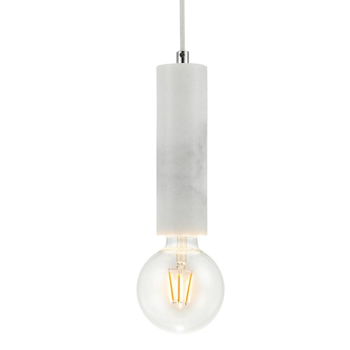 Suspension Maia marbre blanc (ampoule incluse)