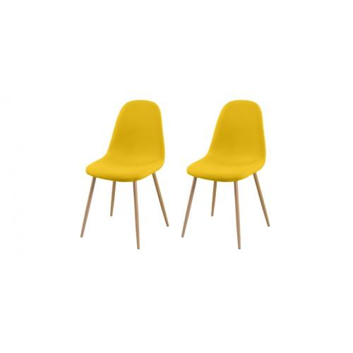 acheter lot de 2 chaises jaunes pas cher