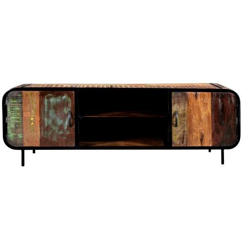 acheter meuble tv en bois recycle