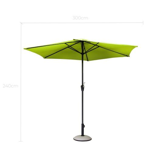 acheter parasol design vert exterieur