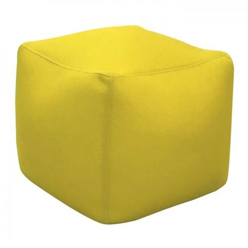 acheter pouf carre jaune interieur exterieur