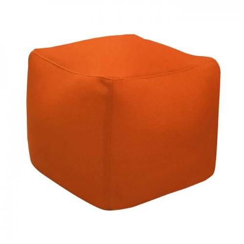 acheter pouf carre orange detente