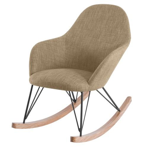 acheter rocking chair tissu beige
