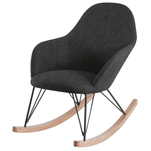 Rocking Chair Malibu Gris foncé