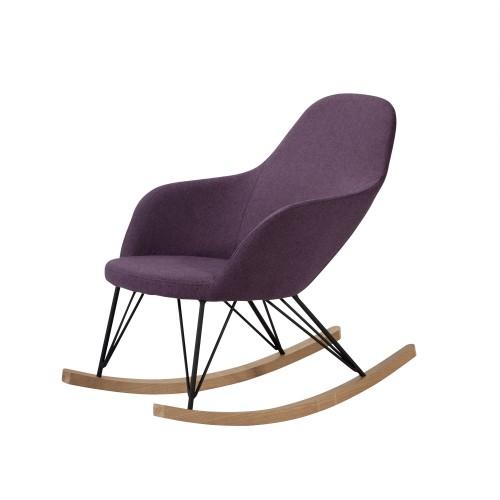 acheter rocking chair violet tissu