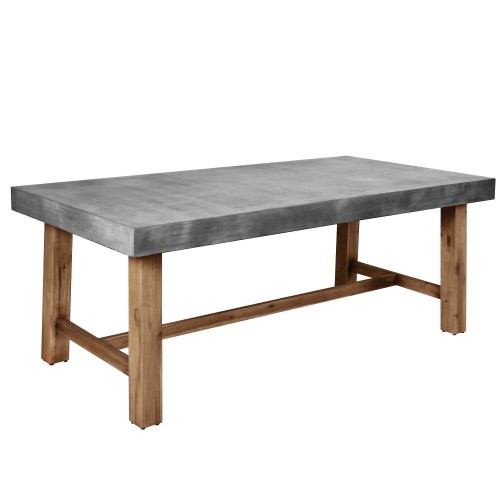 Table rectangulaire Birdie 200 cm en béton
