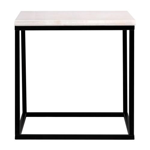 Table d 39 appoint carr e dagmar marbre blanche testez nos - Table d appoint carree ...