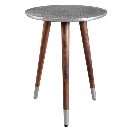 Table basse  ronde Sahru chrome