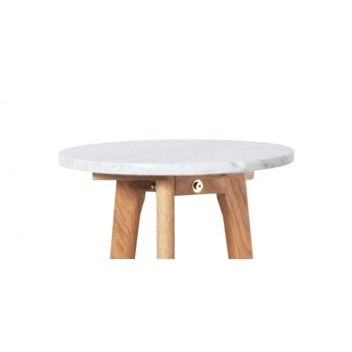 acheter table basse blanche bois marbre