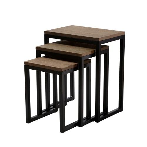 Table basse carrée Kulu (lot de 3)
