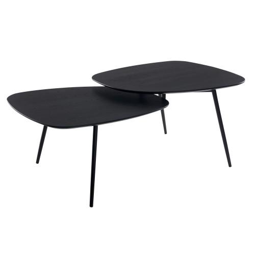 acheter table basse bois noir