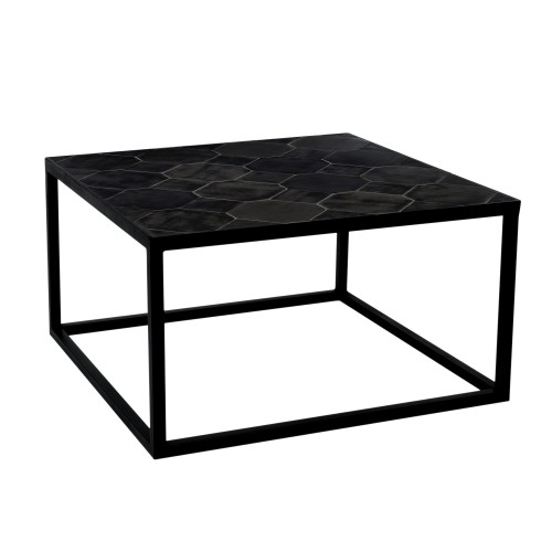acheter table basse carree pieds metal