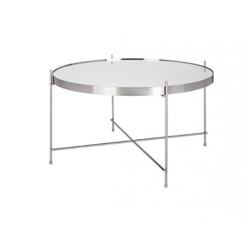 Table basse ronde Valdo argent M