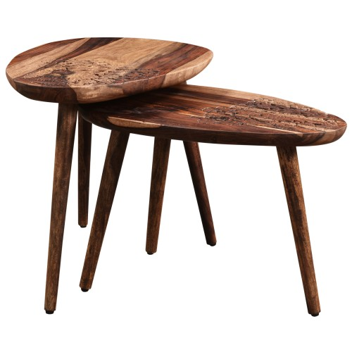 Table basse Gonda en bois (lot de 2)