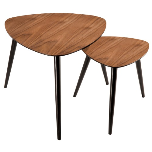 Table basse scandinave en bois (lot de 2)