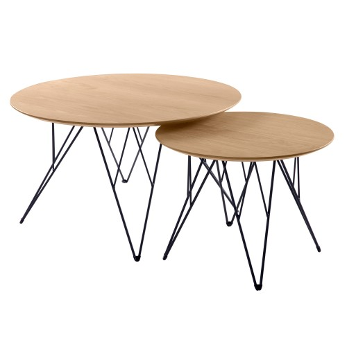 Table basse gigogne Kari (lot de 2)